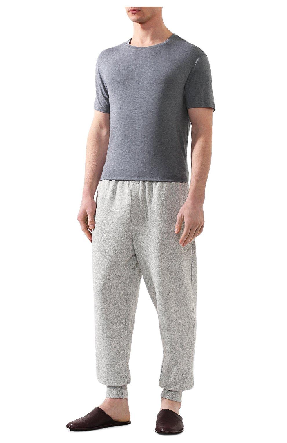Мужская футболка DEREK ROSE серого цвета, арт. 3048-MARL001 | Фото 2