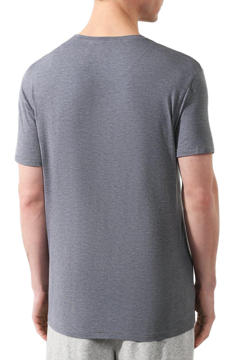 Мужская футболка DEREK ROSE серого цвета, арт. 3048-MARL001 | Фото 4