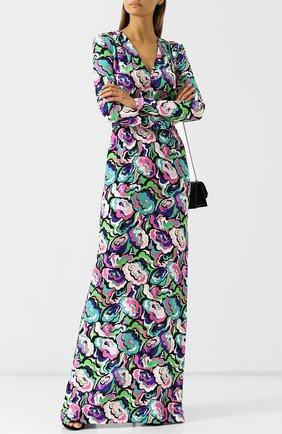 Приталенное платье-макси c V-образным вырезом и принтом  Emilio Pucci разноцветное | Фото №1