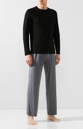 Мужские домашние брюки DEREK ROSE серого цвета, арт. 3558-MARL001 | Фото 2