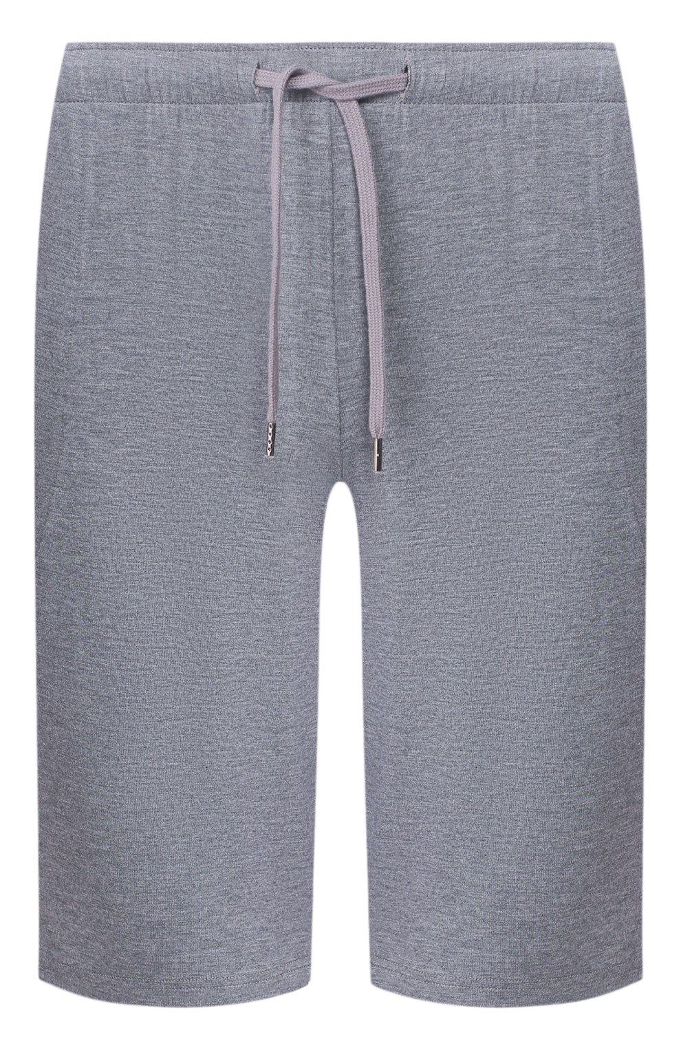 Мужские домашние шорты DEREK ROSE серого цвета, арт. 3559-MARL001 | Фото 1 (Кросс-КТ: домашняя одежда; Материал внешний: Синтетический материал; Статус проверки: Проверена категория)