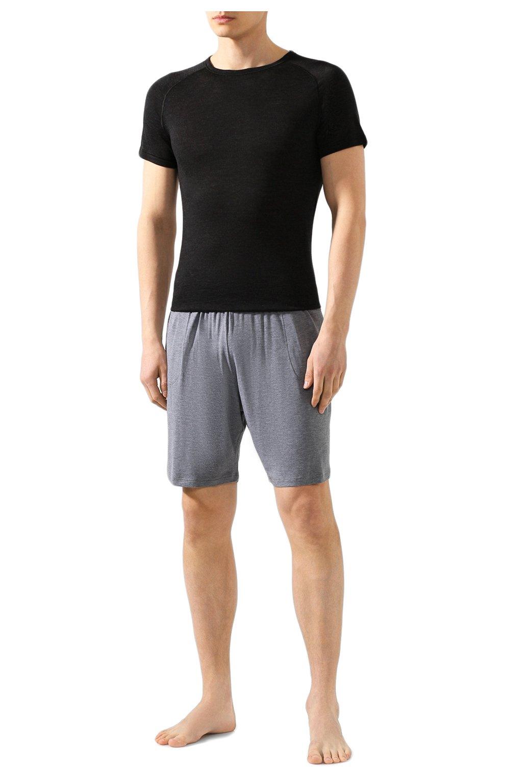 Мужские домашние шорты DEREK ROSE серого цвета, арт. 3559-MARL001 | Фото 2 (Кросс-КТ: домашняя одежда; Материал внешний: Синтетический материал; Статус проверки: Проверена категория)