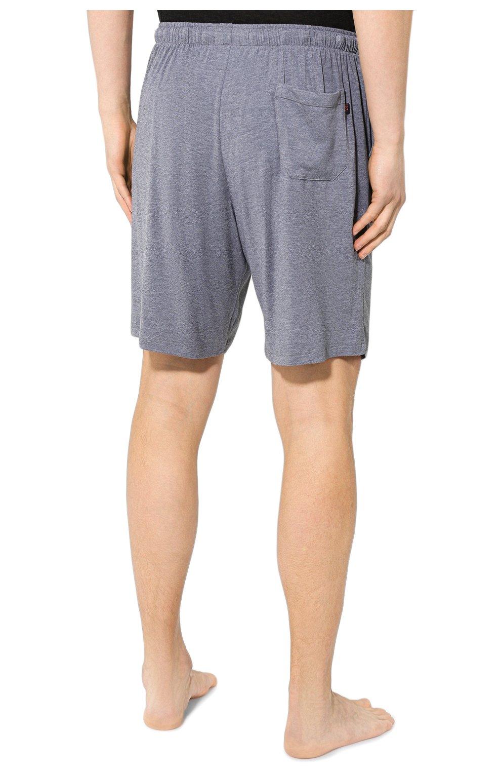 Мужские домашние шорты DEREK ROSE серого цвета, арт. 3559-MARL001 | Фото 4 (Кросс-КТ: домашняя одежда; Материал внешний: Синтетический материал; Статус проверки: Проверена категория)