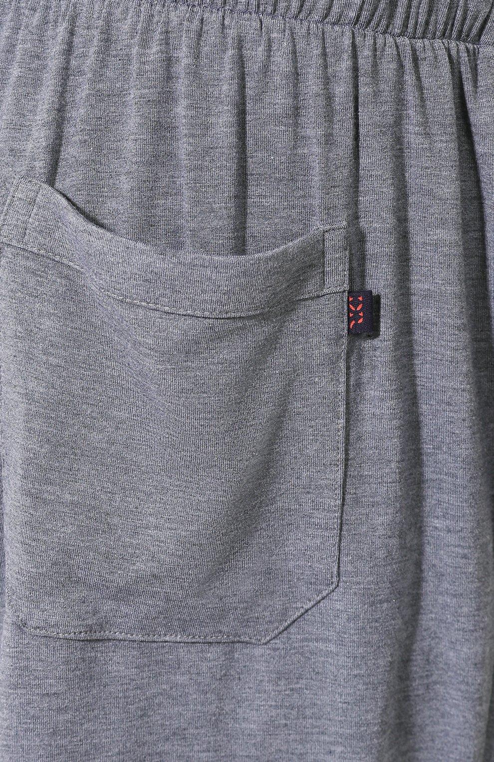 Мужские домашние шорты DEREK ROSE серого цвета, арт. 3559-MARL001 | Фото 5 (Кросс-КТ: домашняя одежда; Материал внешний: Синтетический материал; Статус проверки: Проверена категория)