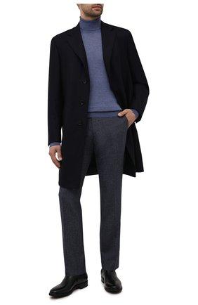 Мужской шерстяные брюки прямого кроя BERWICH темно-синего цвета, арт. SC/1 ALC/RD1436 | Фото 2