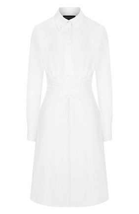 Приталенное платье-рубашка из хлопка | Фото №1