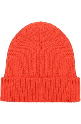 Шерстяная шапка с логотипом бренда | Фото №2