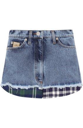 Джинсовая юбка с декоративной отделкой | Фото №1