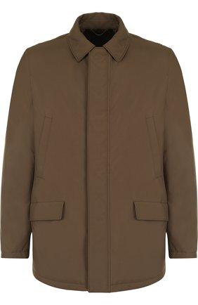 Куртка на молнии с внутренней меховой отделкой | Фото №1