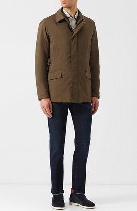 Куртка на молнии с внутренней меховой отделкой | Фото №2