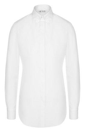 Однотонная хлопковая блуза   Фото №1