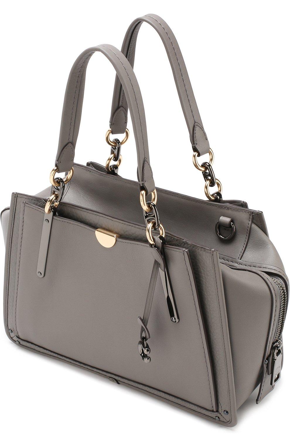 4ecc60eb3493 Женская сумка dreamer small COACH серая цвета — купить за 39800 руб ...