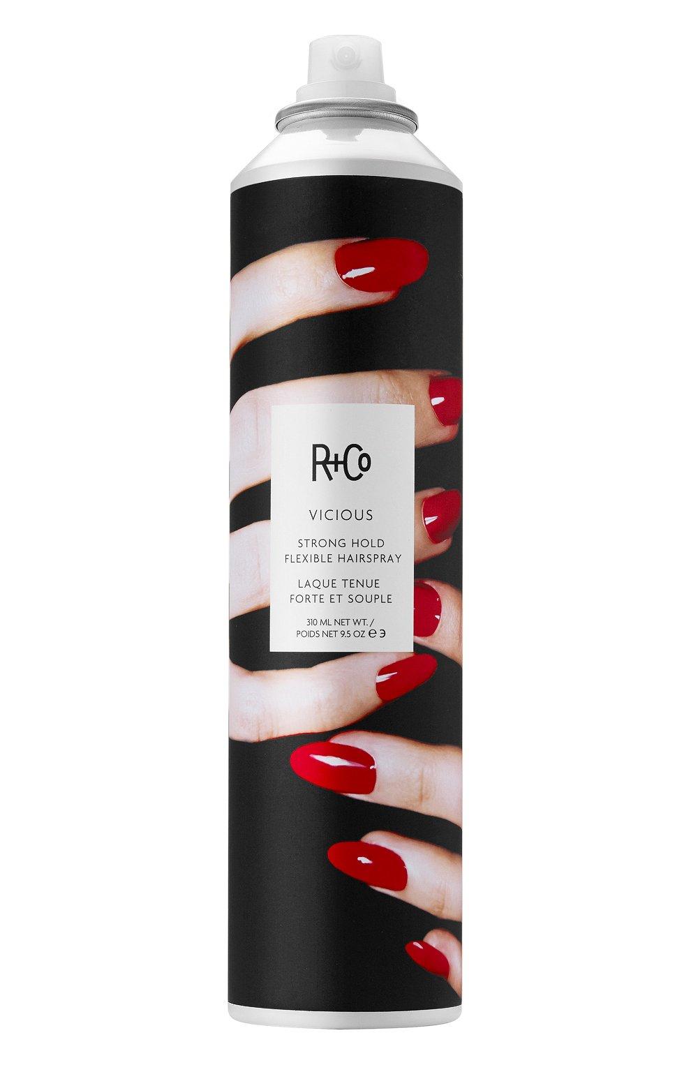 Спрей для укладки подвижной фиксации vicious R+CO бесцветного цвета, арт. 810374020821 | Фото 1 (Статус проверки: Проверена категория; Ограничения доставки: flammable)