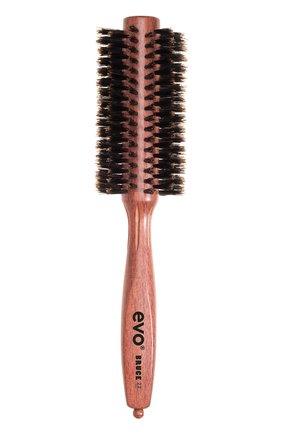 Круглая щетка с натуральной щетиной для волос 22мм Bruce | Фото №1