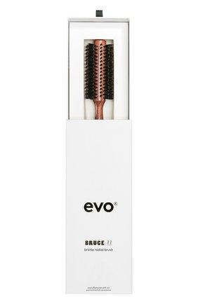 Женская круглая щетка с натуральной щетиной для волос 22мм bruce EVO бесцветного цвета, арт. 9327417018567 | Фото 2