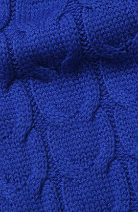 Детский шерстяной шарф фактурной вязки MONCLER ENFANT синего цвета, арт. D2-954-00016-05-04S02 | Фото 2