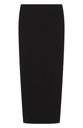 Однотонная юбка-карандаш The Row черная | Фото №1