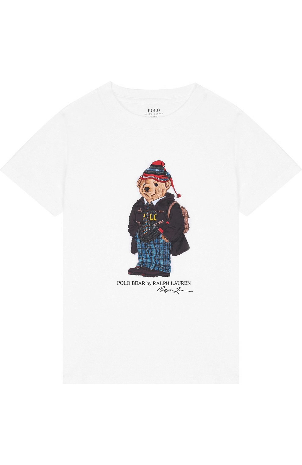 12054a6e9d4c Детская хлопковая футболка с принтом POLO RALPH LAUREN белого цвета ...