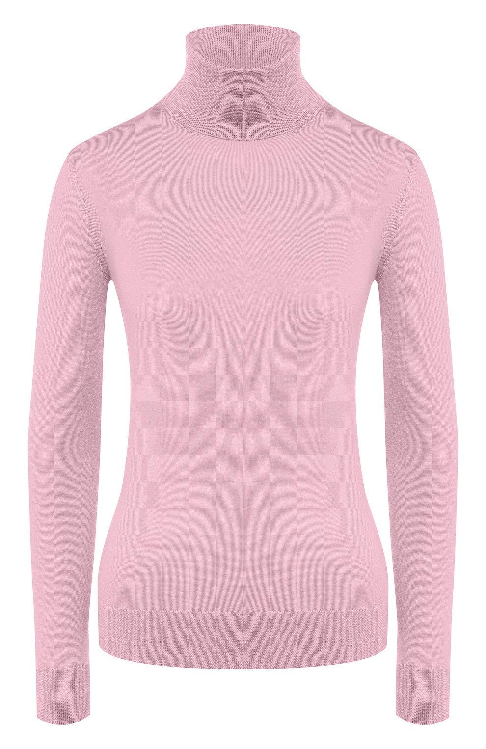 Женская кашемировая водолазка RALPH LAUREN розового цвета, арт. 290615195   Фото 1