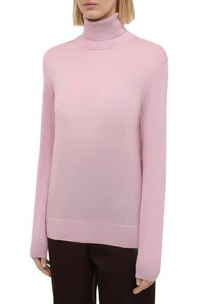 Женская кашемировая водолазка RALPH LAUREN розового цвета, арт. 290615195   Фото 3