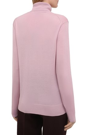 Женская кашемировая водолазка RALPH LAUREN розового цвета, арт. 290615195   Фото 4