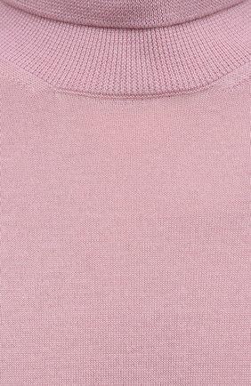 Женская кашемировая водолазка RALPH LAUREN розового цвета, арт. 290615195   Фото 5