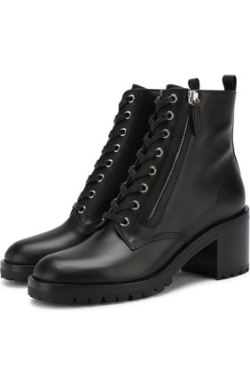 Кожаные ботинки Croft на устойчивом каблуке | Фото №1