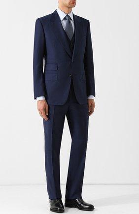 Мужской костюм-тройка из шерсти TOM FORD синего цвета, арт. 422R83/31AL43 | Фото 1