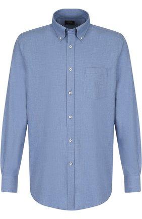 Хлопковая рубашка с воротником button down Paul&Shark серая | Фото №1