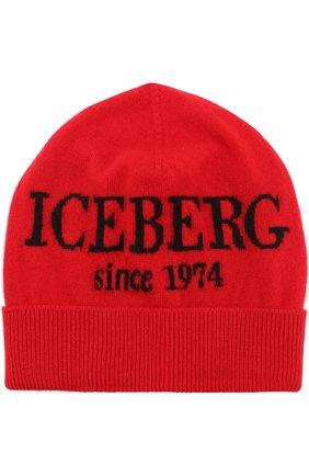 Кашемировая шапка с принтом Iceberg синего цвета   Фото №1