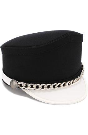 Текстильная кепка с декоративной цепью | Фото №1