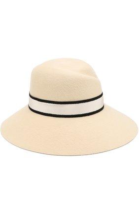 Фетровая шляпа Rose с лентой Maison Michel белого цвета | Фото №1
