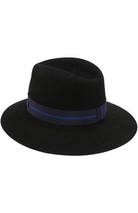 Фетровая шляпа Henrietta с лентой Maison Michel черного цвета | Фото №1