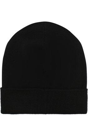 Кашемировая шапка с принтом Iceberg черного цвета   Фото №1