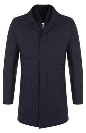 Стеганая куртка на молнии с отложным воротником   Фото №1