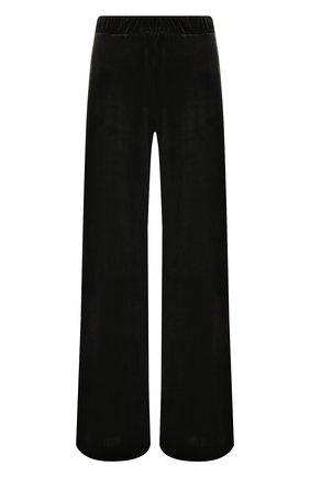 Бархатные брюки свободного кроя с эластичным поясом | Фото №1