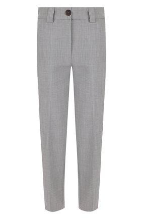 Укороченные брюки со стрелками и карманами | Фото №1
