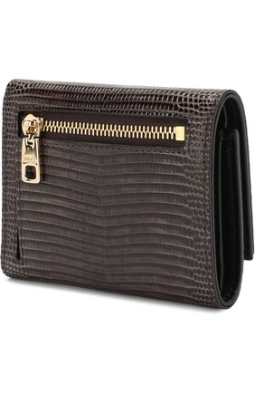 Кожаный кошелек Dolce & Gabbana коричневого цвета | Фото №2