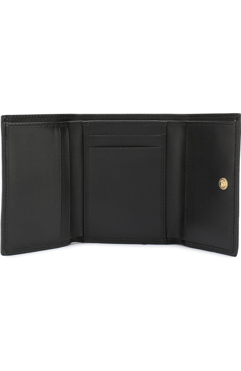 Кожаный кошелек Dolce & Gabbana коричневого цвета | Фото №3
