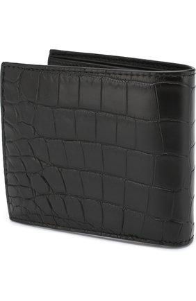 Мужской портмоне из кожи крокодила с отделениями для кредитных карт BOTTEGA VENETA черного цвета, арт. 113993/V912R/CNIL | Фото 2