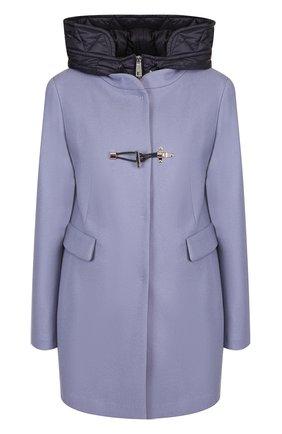Куртка из смеси шерсти и кашемира с капюшоном Fay черная | Фото №1
