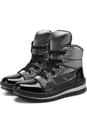 Утепленные ботинки на шнуровке   Фото №1
