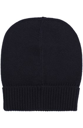 Мужская шапка из смеси кашемира и шерсти DOLCE & GABBANA темно-синего цвета, арт. GX325T/JAMHH   Фото 2