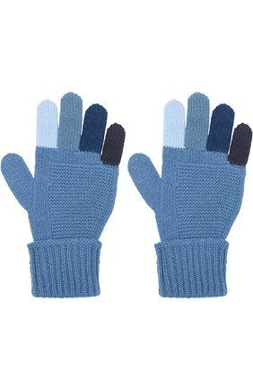 Кашемировые перчатки фактурной вязки | Фото №2