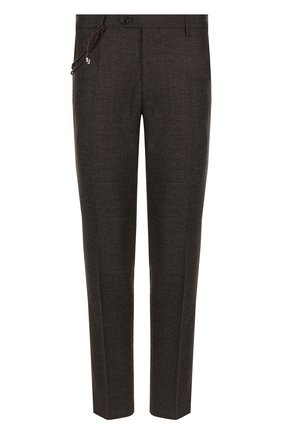 Мужские шерстяные брюки BERWICH темно-коричневого цвета, арт. SC/1 ALC/RD1436 | Фото 1