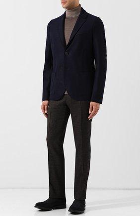 Мужские шерстяные брюки BERWICH темно-коричневого цвета, арт. SC/1 ALC/RD1436 | Фото 2