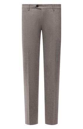 Мужские шерстяные брюки BERWICH бежевого цвета, арт. ZIP/1 ALC/VB1504 | Фото 1