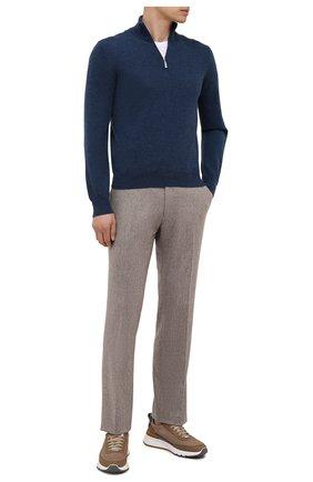 Мужской шерстяные брюки BERWICH бежевого цвета, арт. ZIP/1 ALC/VB1504 | Фото 2