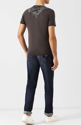 Хлопковая футболка с принтом C.P. Company черная | Фото №1