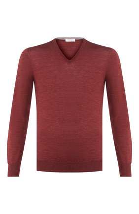 Мужской пуловер из шерсти и шелка GRAN SASSO бордового цвета, арт. 57115/13190 | Фото 1